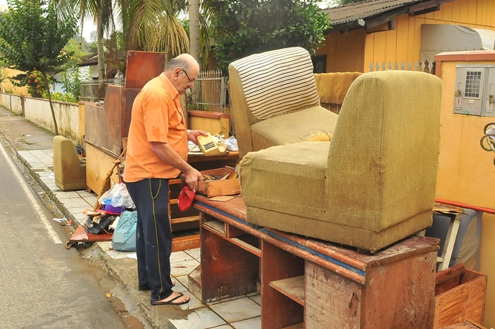 Estragos da enchente deixaram marcas na memória de Daiane Zanghelini | Foto Arquivo OCP News