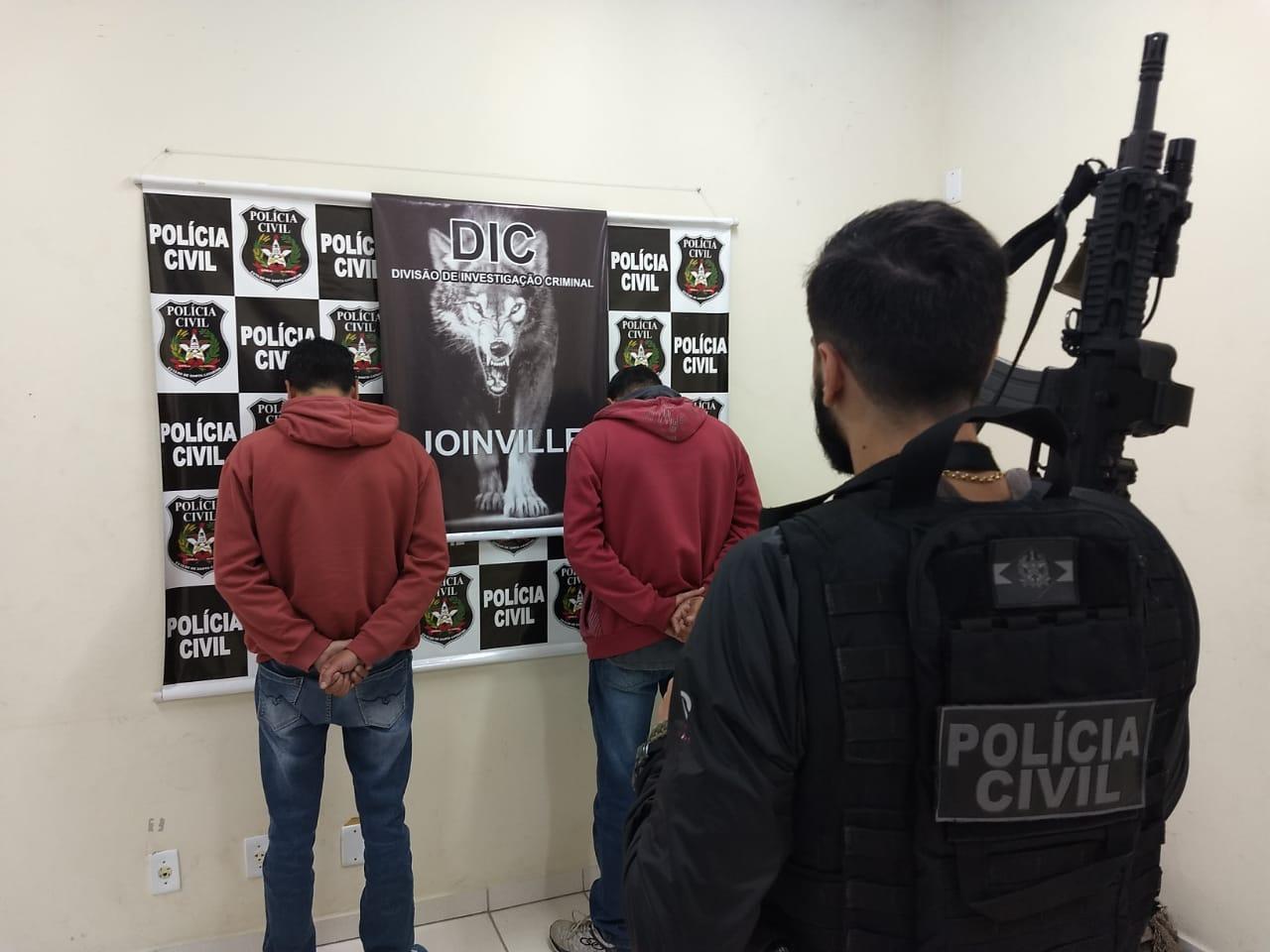 Na tarde desta quinta-feira, os policiais civis conseguiram prender em flagrante os irmãos Anjos   Foto DIC/Divulgação