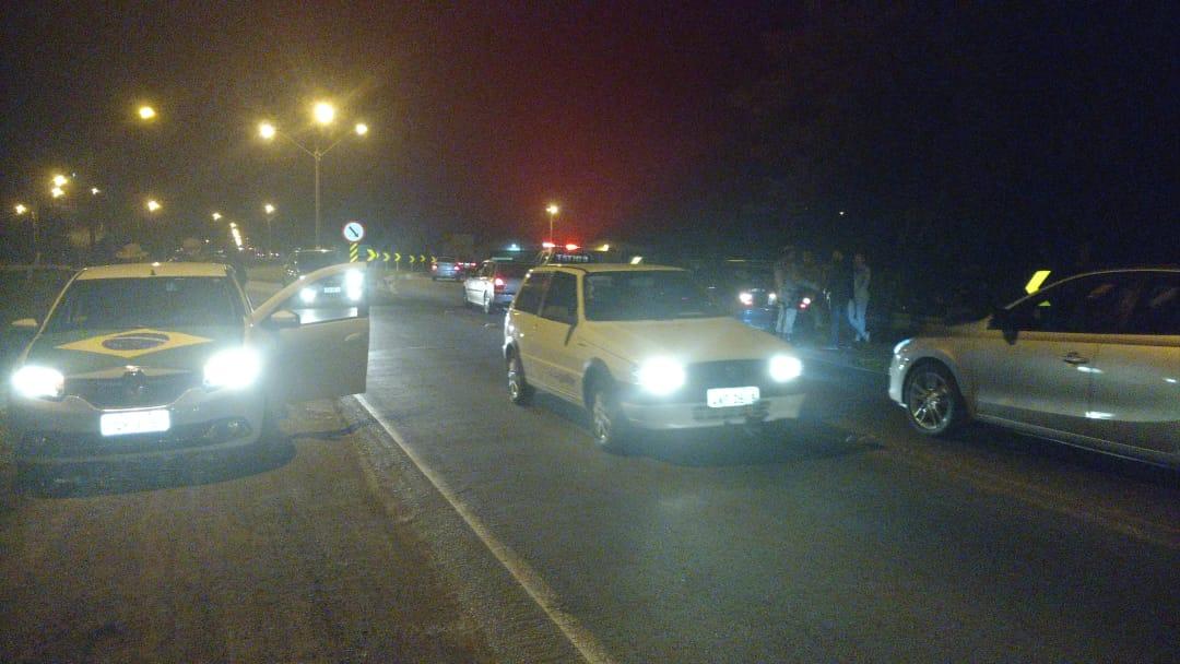 Protesto causou fila na noite desta quarta-feira | Foto Fábio Junkes/OCP