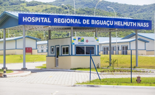 Hospital Regional Helmuth Nass, de Biguaçu, recebeu quase R$ 1 milhão do Governo Federal Foto Divulgação