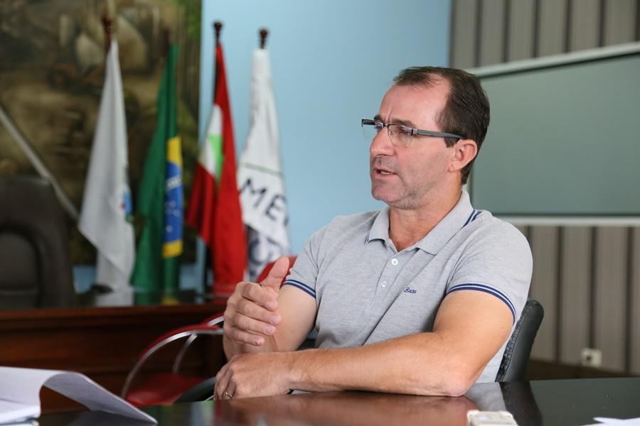 Prefeito de Guaramirim, Luís Chiodini (PP) | Foto: Eduardo Montecino
