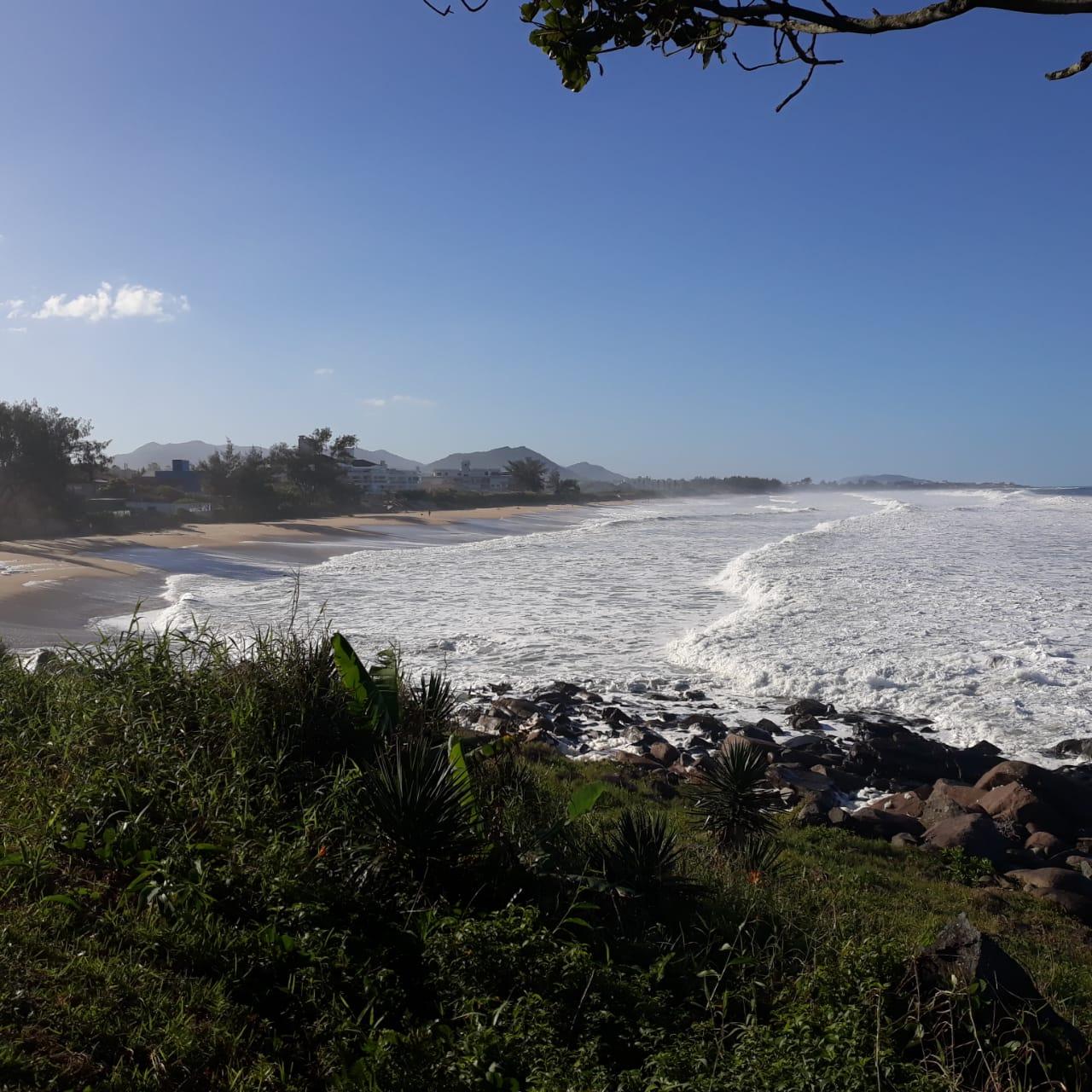 Praia do Morro das Pedras, em Florianópolis, teve registros de maré alta em 21 de maio |  Foto Ewaldo Willerding/Arquivo OCP