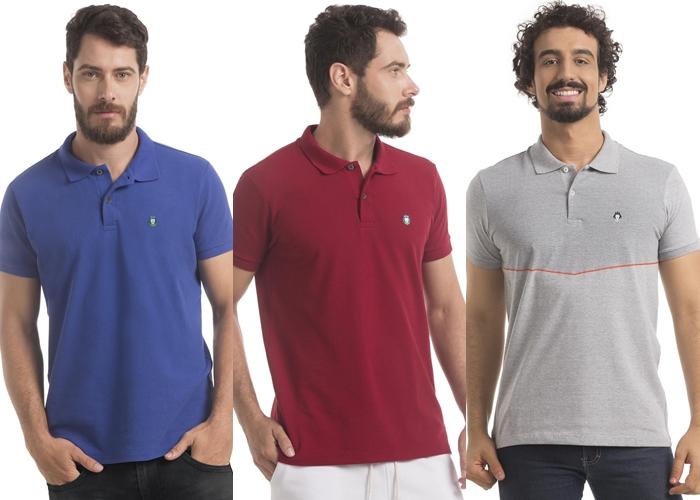 Na ordem, os três estilos de polos da Zaiden: Basic, Style e Premium | Foto Reprodução