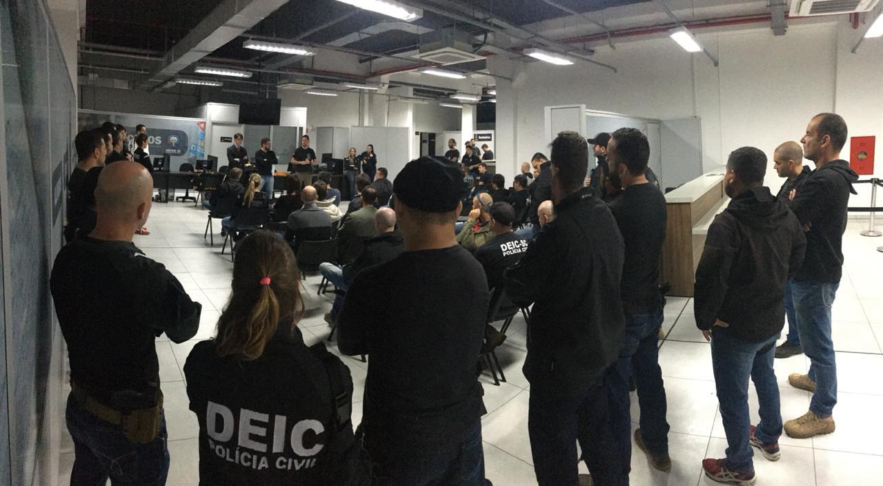 Concentração da operação na manhã desta terça-feira (Foto: Polícia Civil)