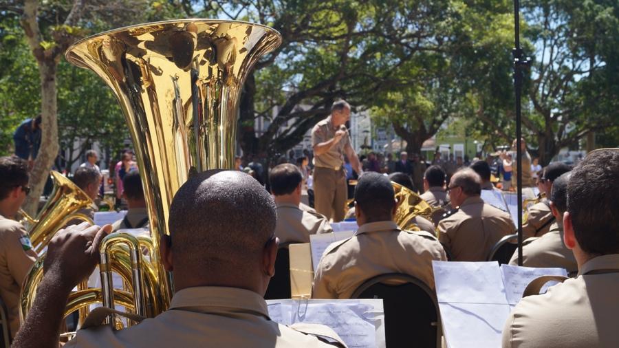 Banda da Polícia Militar leva música à Praça XV |  Foto: Divulgação