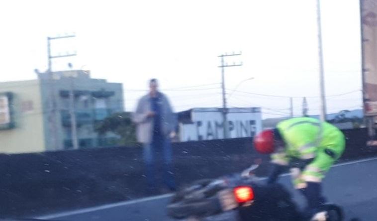 Motociclista morreu manhã desta quarta-feira (13) | Foto Divulgação