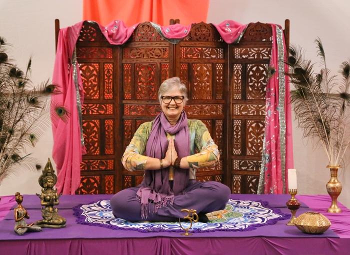 Sandra é uma das grandes incentivadoras da prática da meditação em Jaraguá do Sul | Foto Eduardo Montecino/OCP News