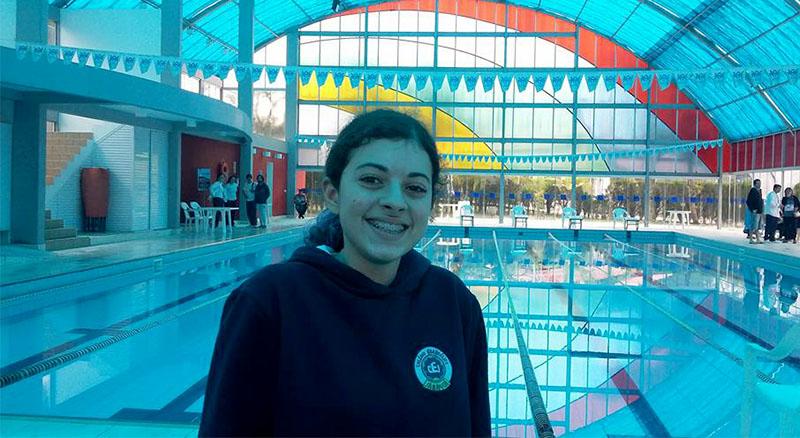 Luíza Possamai representou o Colégio Evangélico Jaraguá I Foto: Divulgação
