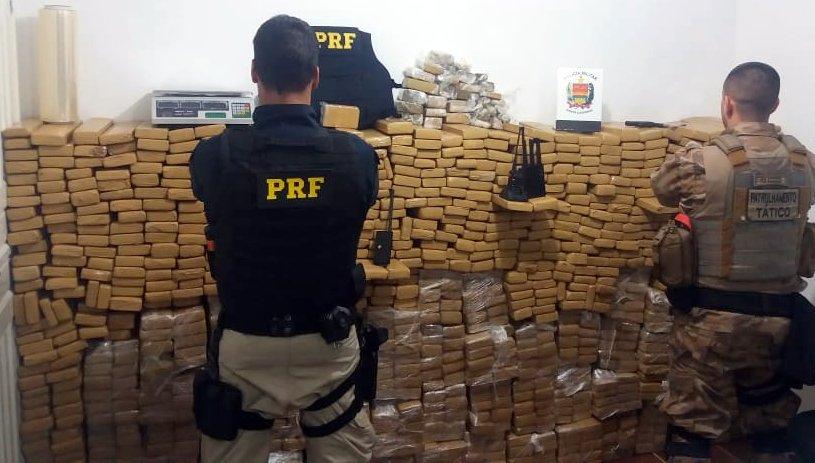 Ação foi realizada na madrugada desta segunda-feira | Foto: PRF/Divulgação