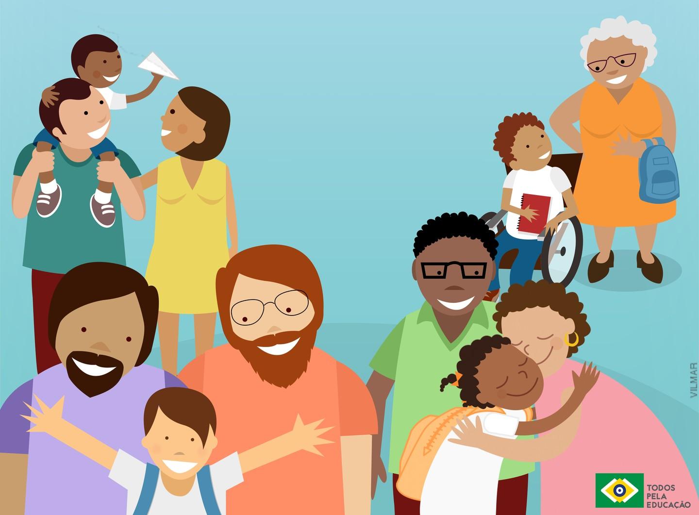 Para educadores, dia da família atende melhor às novas configurações familiares presentes na comunidade escolar | Imagem Divulgação