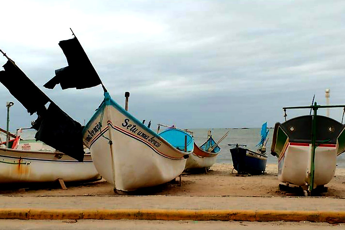 Barra Velha deve continuar com o tempo encoberto, como no registro feito pela jornalista Dani Lando nesta quarta-feira | Foto Dani Lando/Arquivo Pessoal