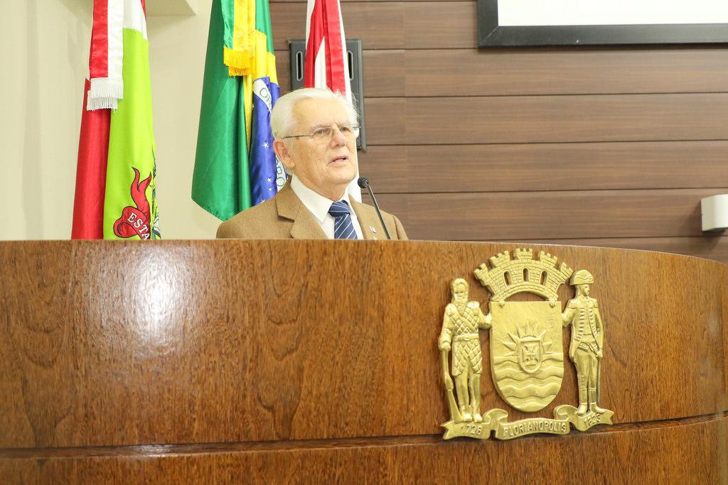 Nereu do Vale Pereira completou 90 anos no último dia 13 de setembro   Foto Édio Hélio Ramos/Divulgação/PMF