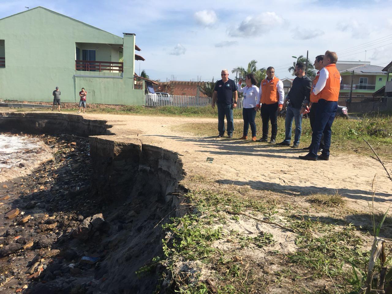 Áreas atingidas foram vistoriadas nesta semana pela Prefeitura e equipes da Defesa Civil Estadual | Fotos Jadiel Miotti/Prefeitura de Itapoá