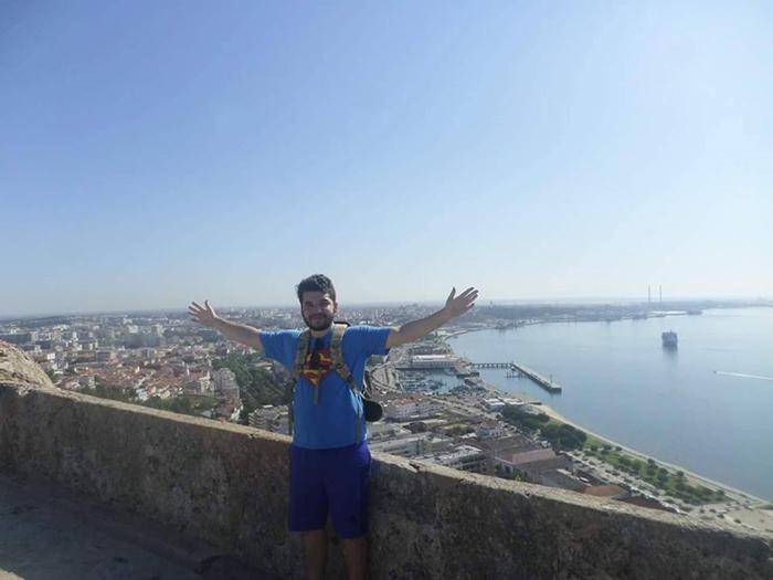 Rodrigo no castelo de Setúbal | Foto Arquivo Pessoal