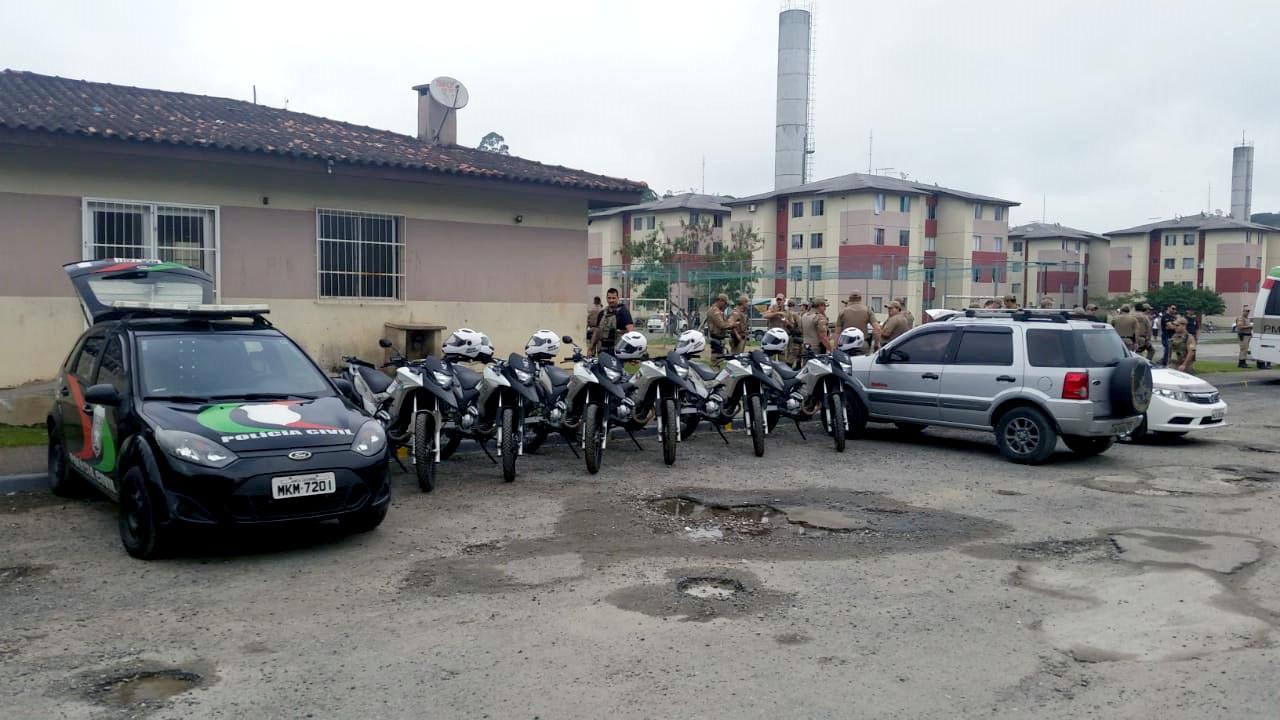 Mais de 220 agentes de segurança se envolveram na operação | Foto Divulgação/Polícia Civil