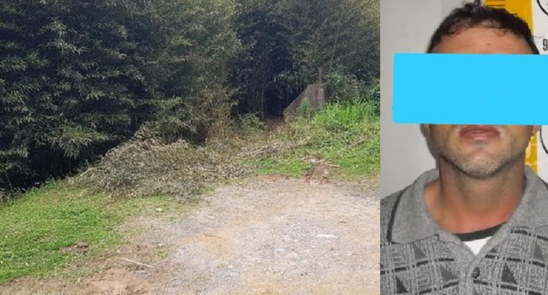 Estupro ocorreu em uma área de mata à beira do rio Negro: homem de 37 anos foi preso nesta sexta-feira | Foto Polícia Civil/Divulgação
