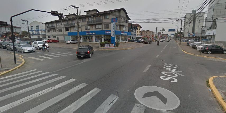 Rua Dr João Colin, na esquina com rua Benjamin Constant | Foto Reprodução