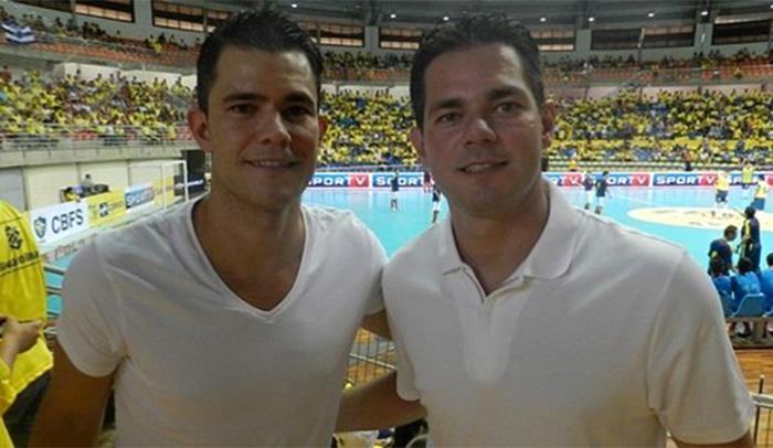 Campeões mundiais com a seleção brasileira, irmãos Vinicius (E) e Lenisio estarão presentes no evento | Foto: Divulgação