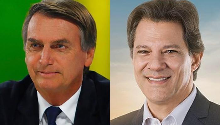 Jair Bolsonaro (PSL) e Fernando Haddad (PT) voltam às urnas dia 28 | Fotos Divulgação
