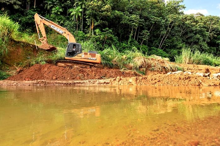 O desassoreamento dos rios da região é uma das medidas tomadas para evitar as cheias | Foto Arquivo OCP News