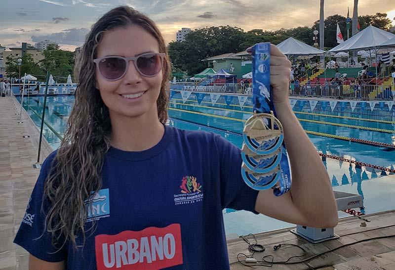 Marina Piazera Fructuozo representou Jaraguá do Sul no evento | Foto: Divulgação