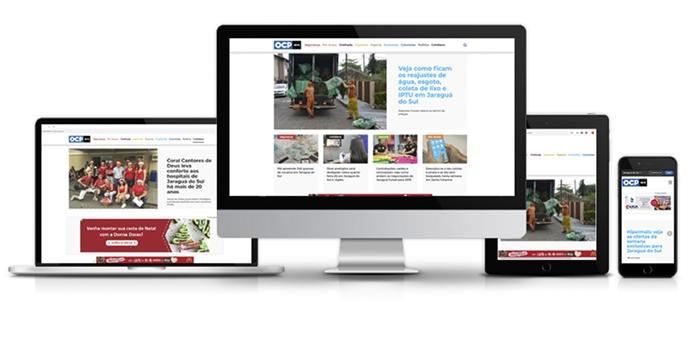 A Rede OCP News está disponível em diversas plataformas | Foto Reprodução/OCP News