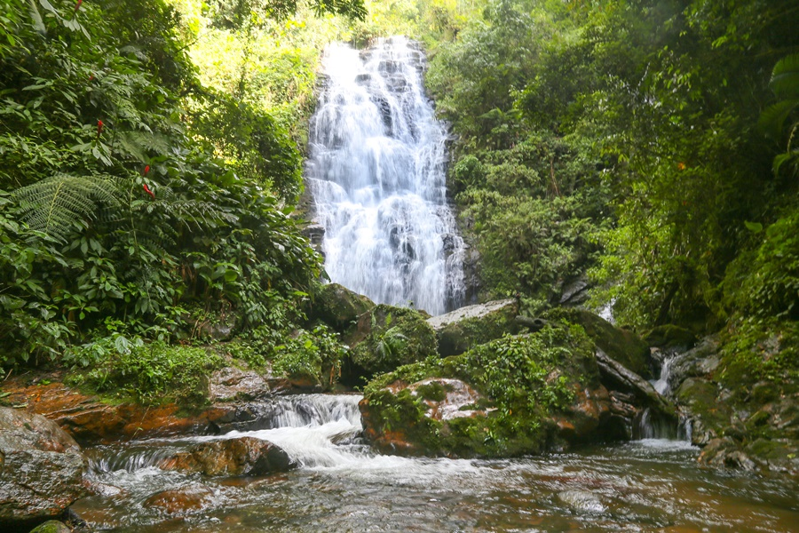 Segunda cachoeira também é utilizada por praticantes de rapel | Foto Eduardo Montecino