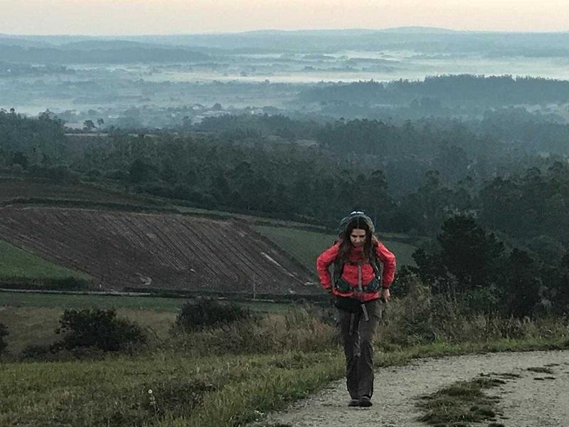 Elisângela Zakrzewski caminhou por 21 dias até Santiago de Compostela | Foto Arquivo Pessoal