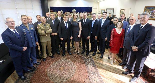 """""""Nosso projeto vai dar certo"""", afirmou o governador Moisés, em primeira reunião com o colegiado   Foto Maurício Vieira/Secom"""