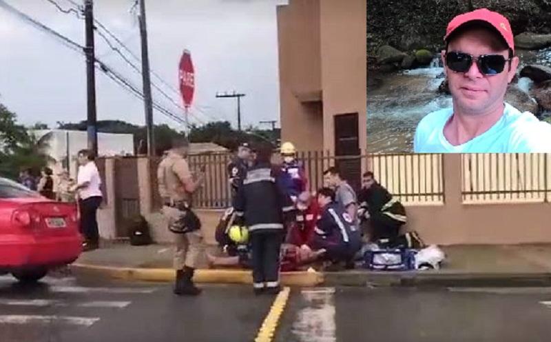 Bombeiros e Samu chegaram a socorrer o condutor do carro, mas ele não resistiu | Foto Reprodução