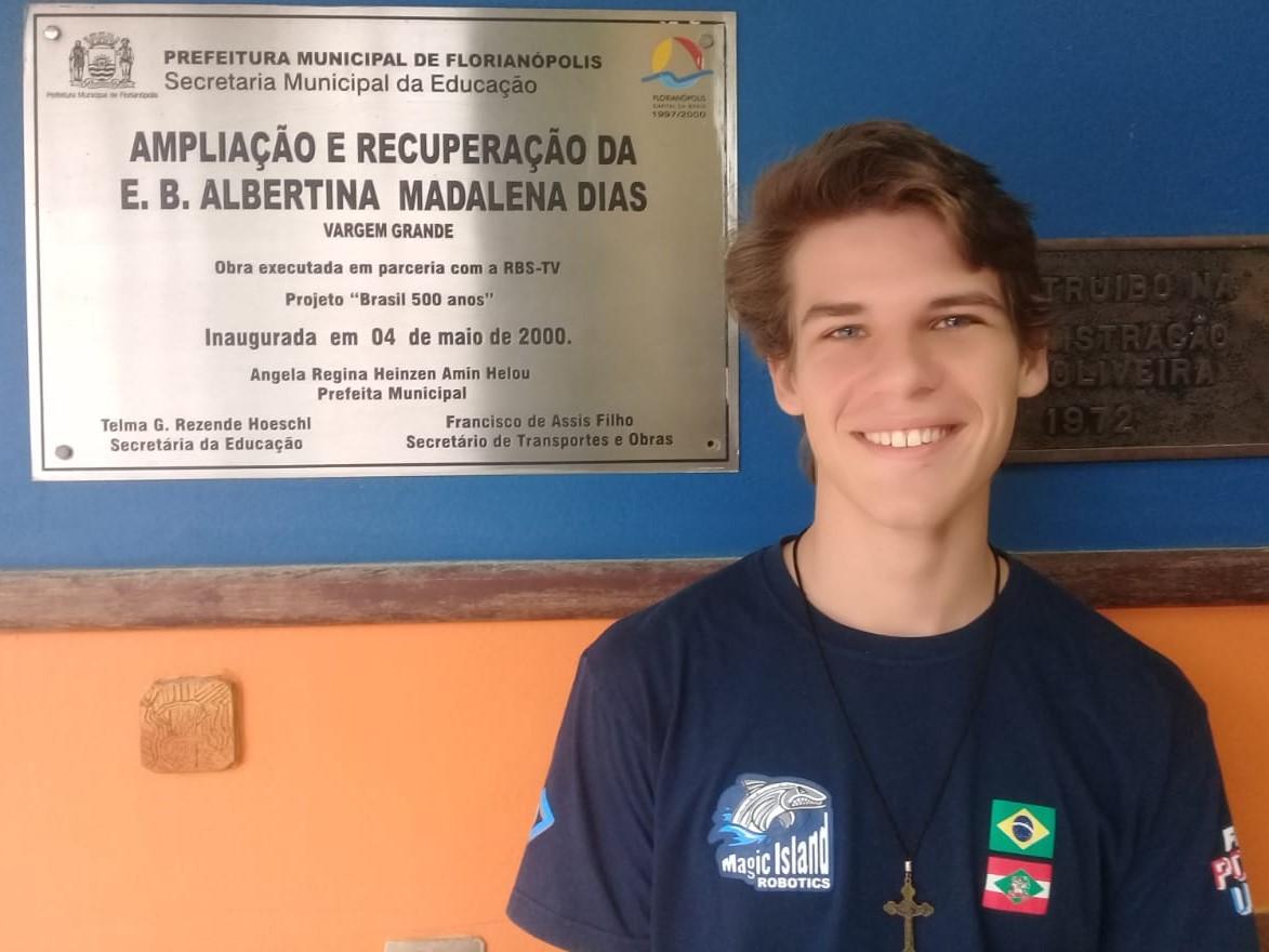 Gabriel frequentou a Escola Básica Municipal Albertina Madalena Dias, na Vargem Grande | Foto PMF/Divulgação
