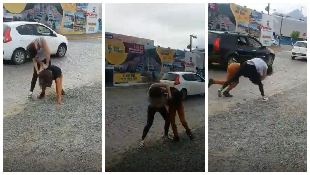 Briga ocorreu na rua 28 de Agosto, no Centro   Foto: Reprodução/OCP News