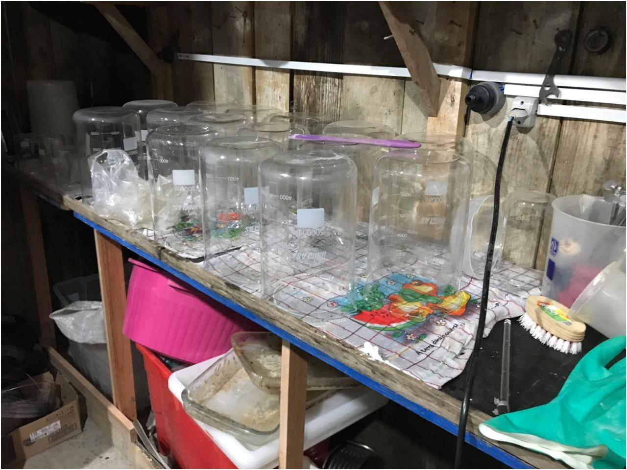 Um laboratório de produção da droga foi desarticulado em Rio dos Cedros, no Vale do Itajaí   Foto Divulgação PF