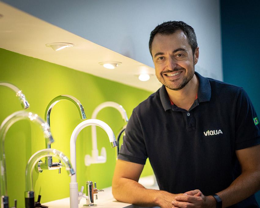 Presidente da Víqua Indústria de Plásticos, Daniel Alberto Cardozo Junior   Foto Divulgação