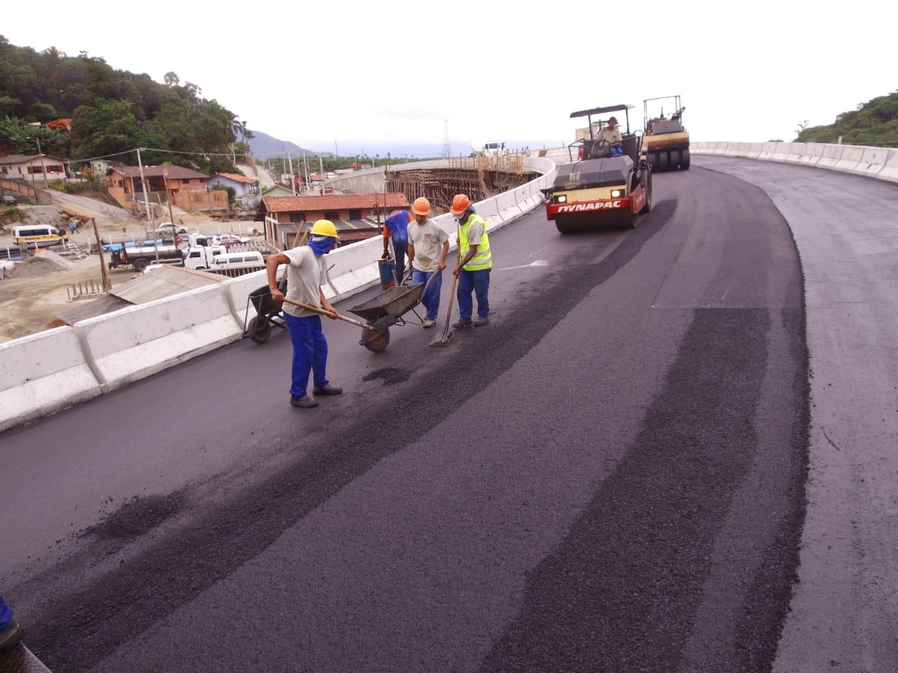 Elevado do Rio Tavares será entregue para o trânsito no sábado (23)   Foto PMF/Divulgação