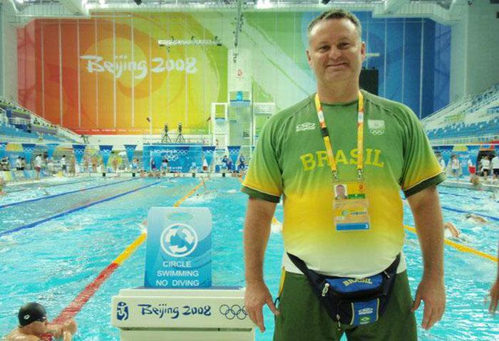 Técnico em duas Olimpíadas, Marco Antônio é uma das novas caras na natação | Foto Arquivo Pessoal
