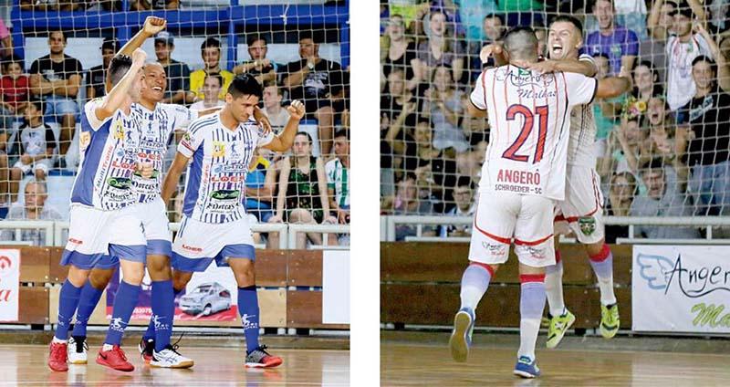 Tetracampeão Loes (E) e atual campeão Angerô fazem uma das semifinais | Fotos Lucas Pavin/Avante! Esportes