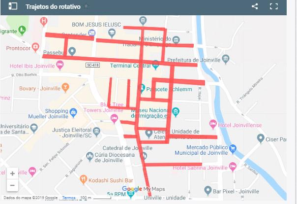 Veja as ruas em que os serviço de zona azul vai funcionar | Imagem Reprodução Google Maps